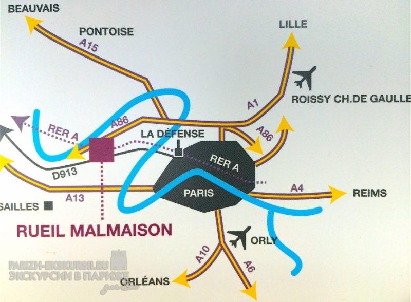 Мальмезон на карте