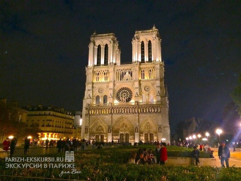 Авто экскурсии в Париже вечером